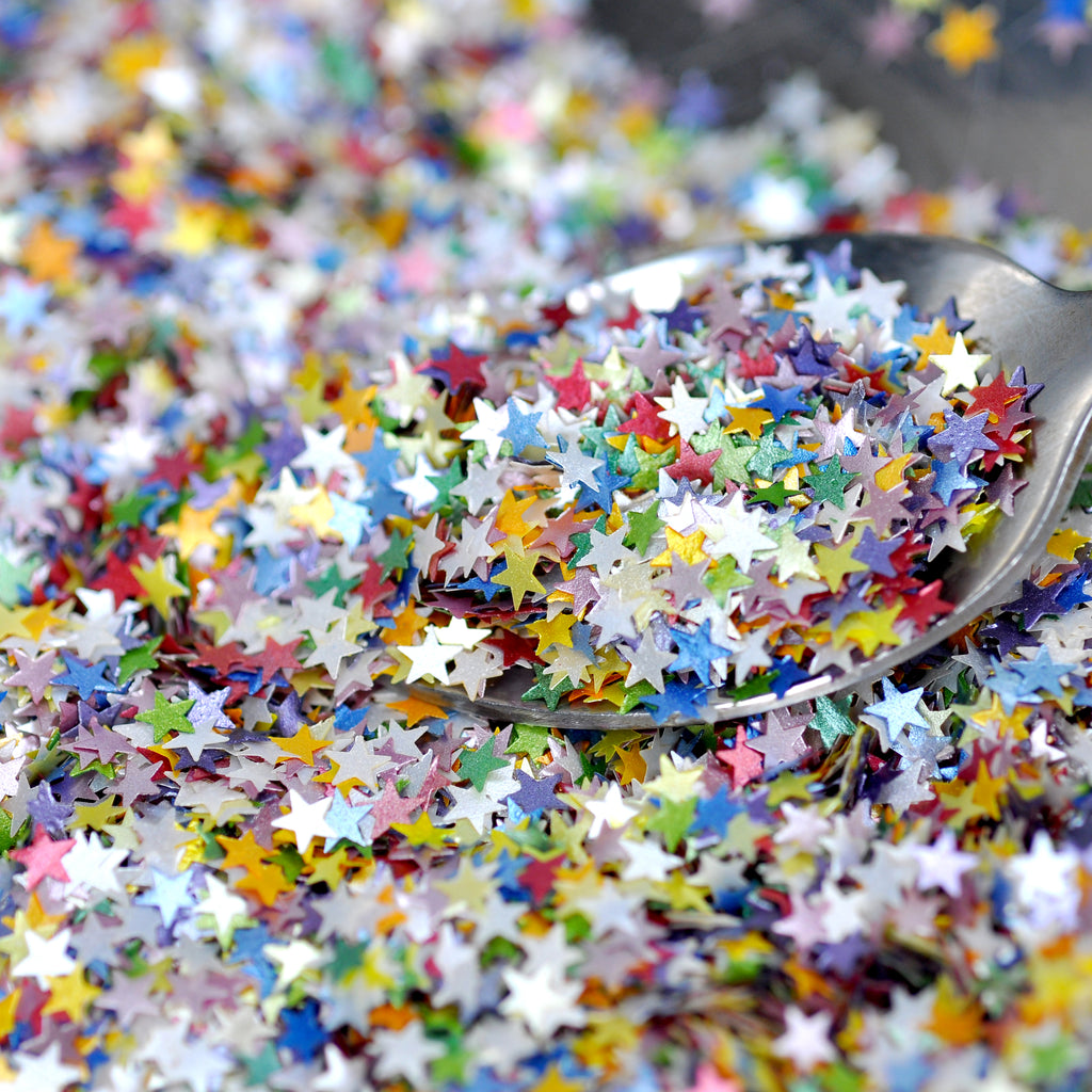 Luxury Rainbow Glitter Stars Sprinkles (Best Before 30 Sept 2022)