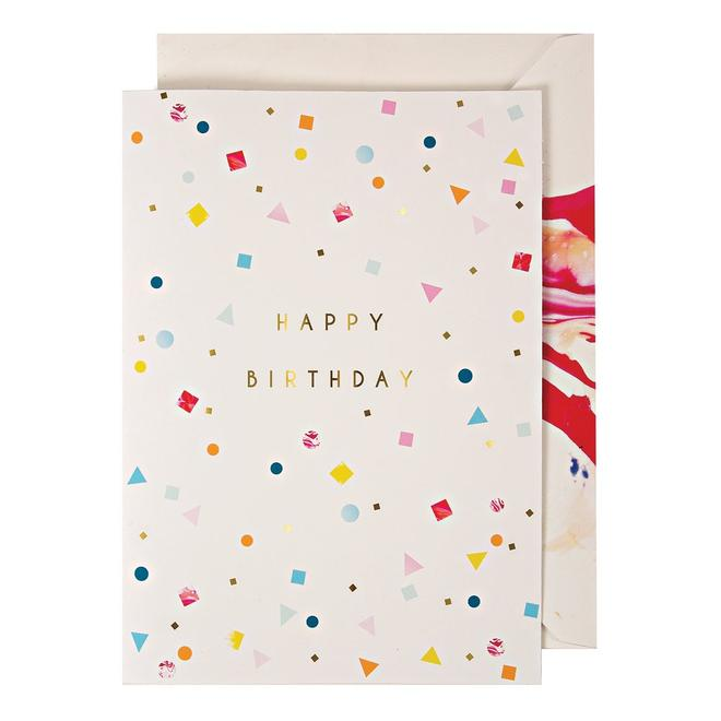 Marble Birthday Garland Card