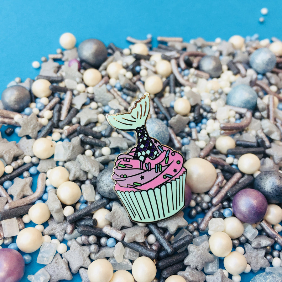 Mermaid Tail Cupcake Sprinkles Enamel Pin – Baking Time Club