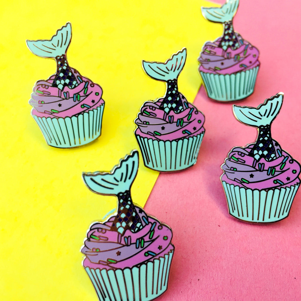 Mermaid Tail Cupcake Sprinkles Enamel Pin