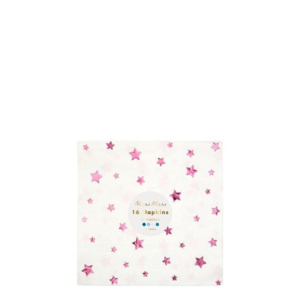 Metallic Foil Star Napkins Pack of 16