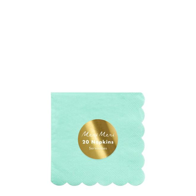 Mint Small Napkins Pack of 20
