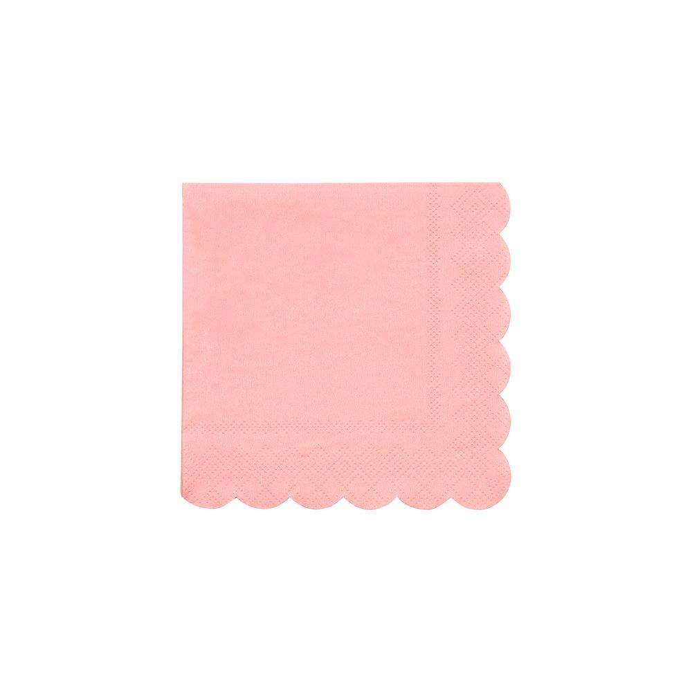 Neon Coral Small Napkins Pack of 20