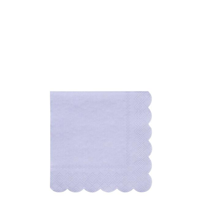 Pale Blue Small Napkins Pack of 20