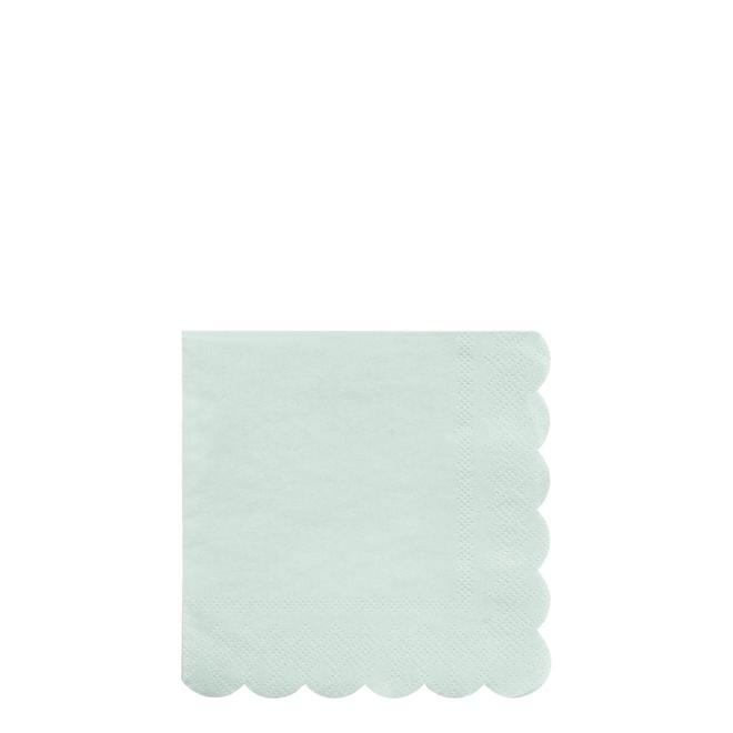 Pale Mint Small Napkins Pack of 20