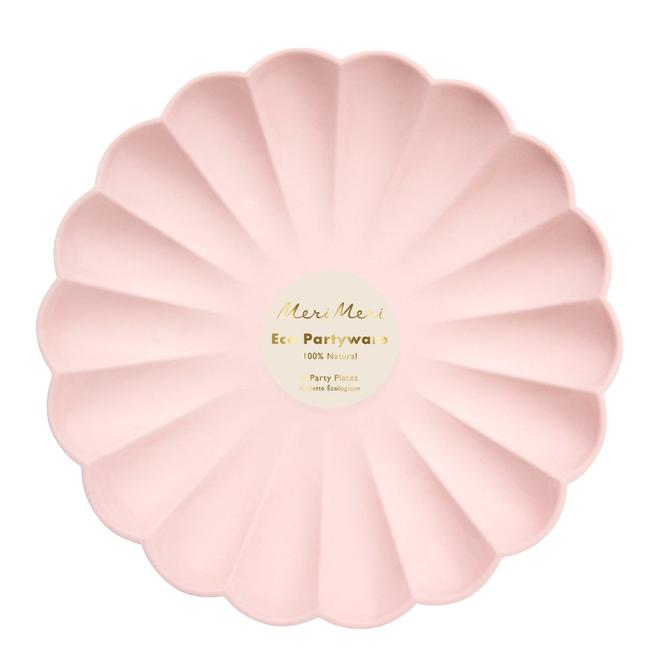 Pale Pink Simply Eco Large Plates