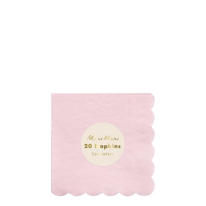 Pale Pink Small Napkins Pack of 20