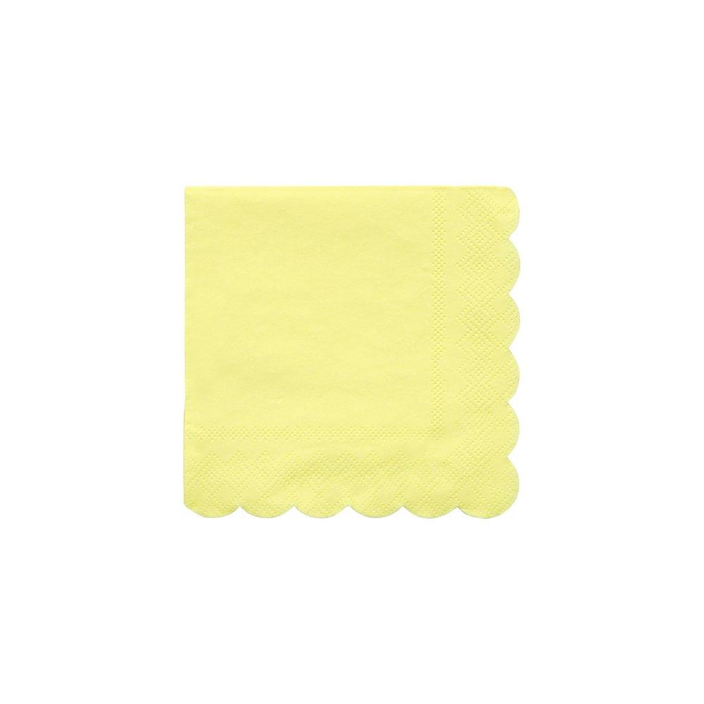 Pale Yellow Small Napkins Pack of 20