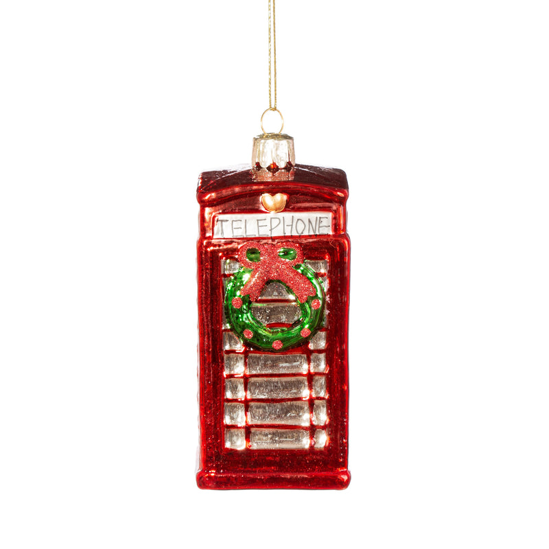 Phone Box With Wreath Shaped Bauble Hanging Decoration Set