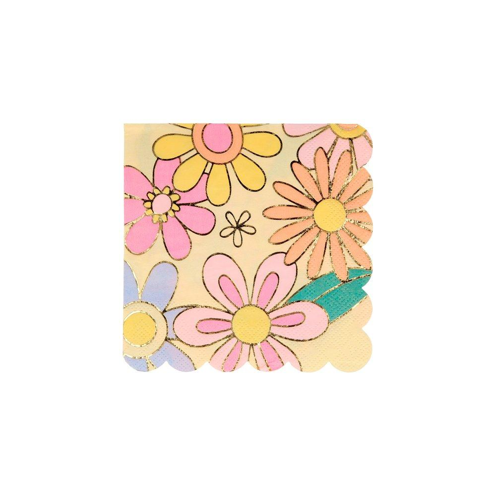 Psychedelic 60s Small Napkins Pack of 16