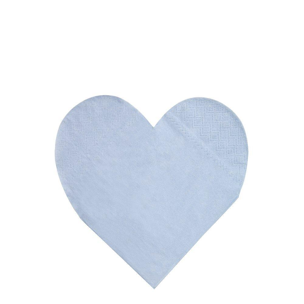 SMALL Pastel Rainbow Heart Napkins Pack 20