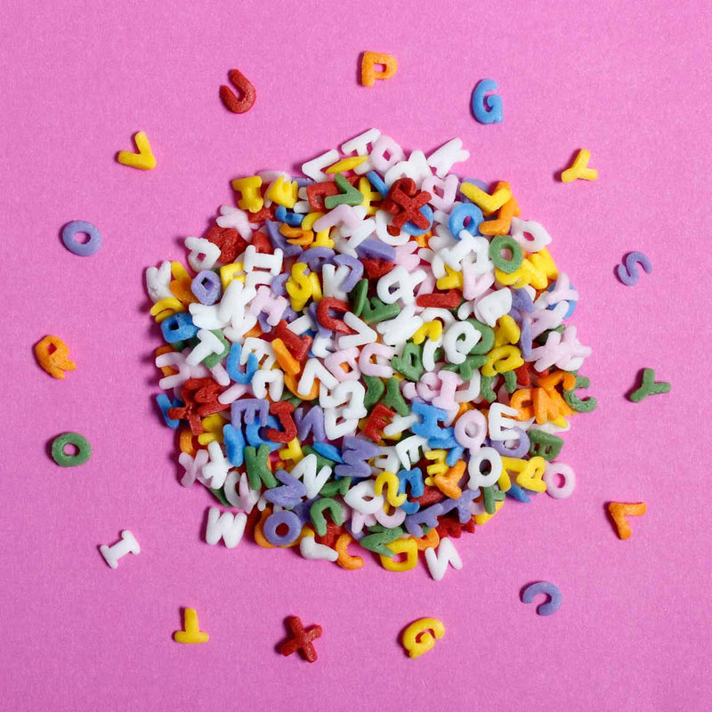 Alphabet Letters Rainbow Confetti Sprinkles (Best Before 05 Sept 2021)