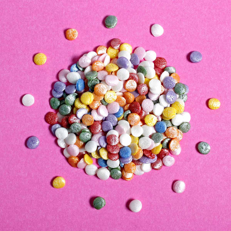 Bulk Bag - Pastel Rainbow Confetti Sequins Sprinkles (Best Before 30 June 2022)