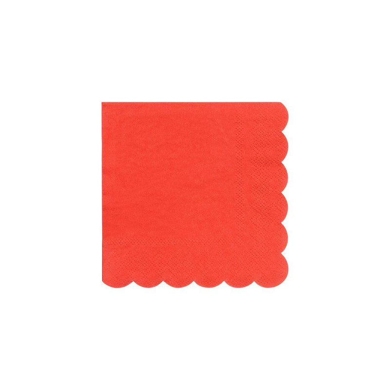 Red Small Napkins Pack of 20