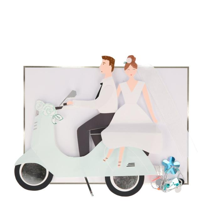 Scooter Couple Stand-Up Card