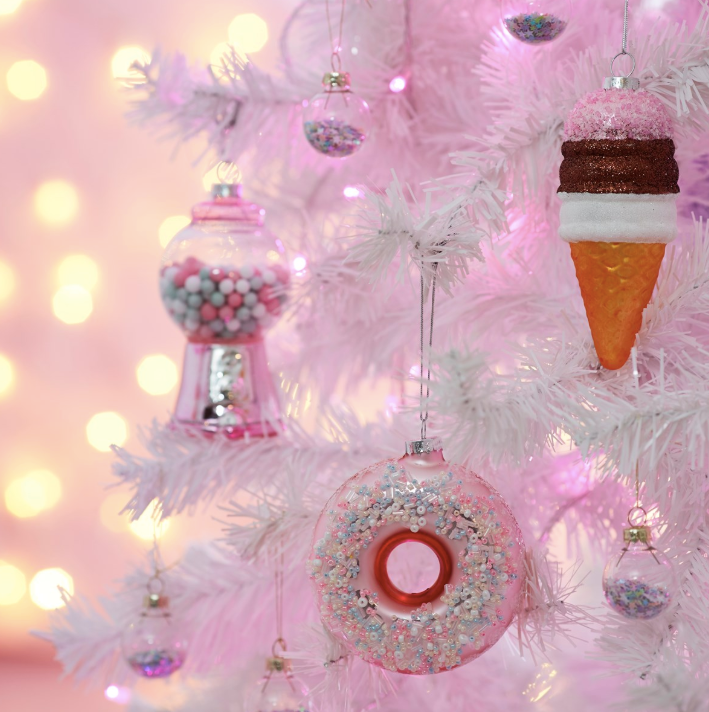 Neapolitan Ice Cream Hanging Decoration Bauble