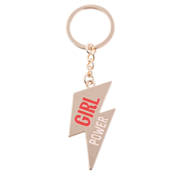 Girl Power Lightning Bolt Enamel Keyring