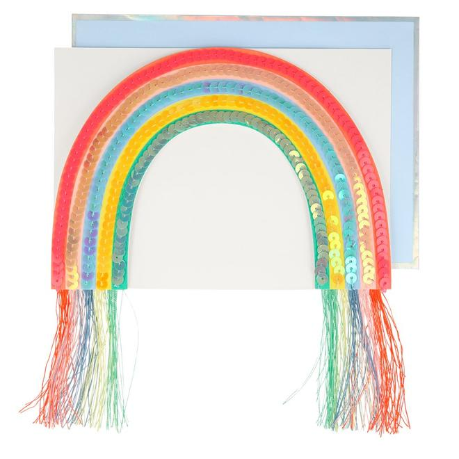 Sequin Rainbow Stand-Up Card