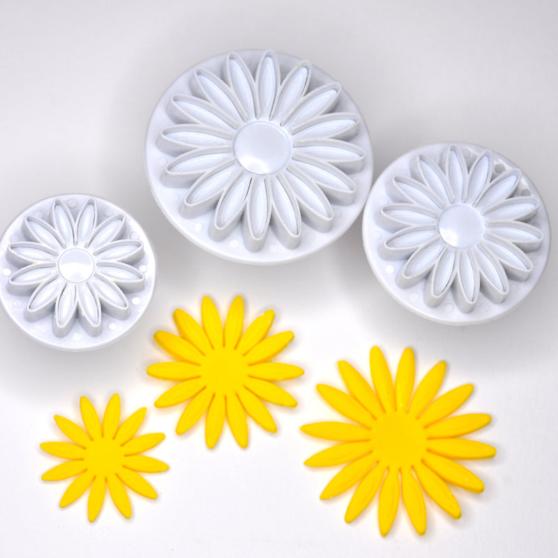 Sunflower Fondant Cutter (Set of 3)