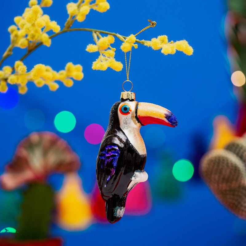 Tiki Toucan Shaped Bauble Hanging Decoration