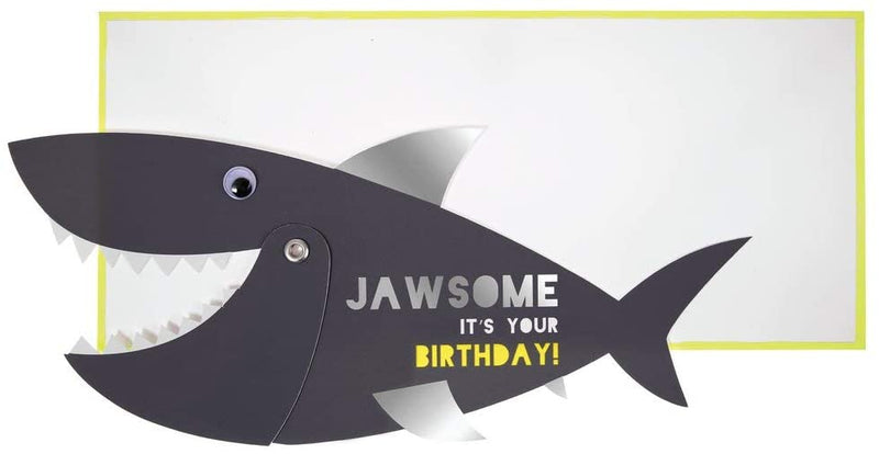 Under The Sea Jawsome Shark Birthday Greeting Card With Envelope