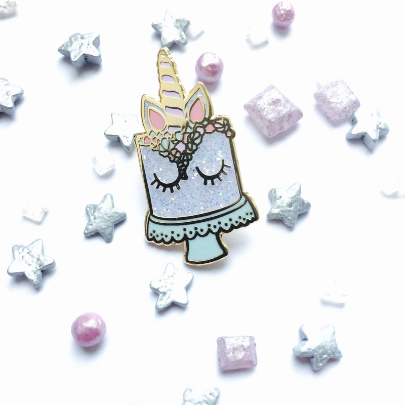 Unicorn Cake Pin