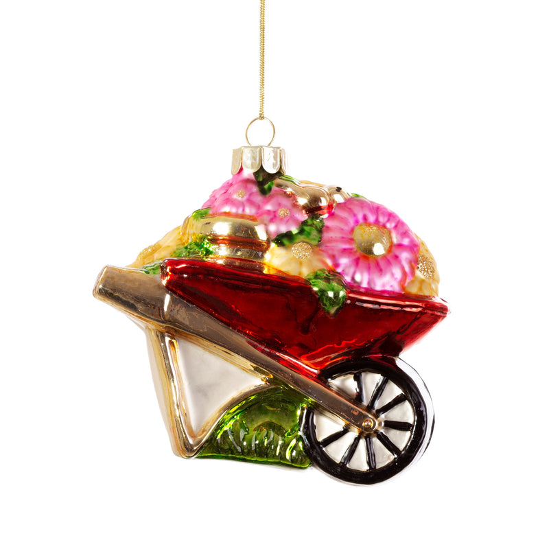 Wheelbarrow Shaped Bauble Hanging Decoration