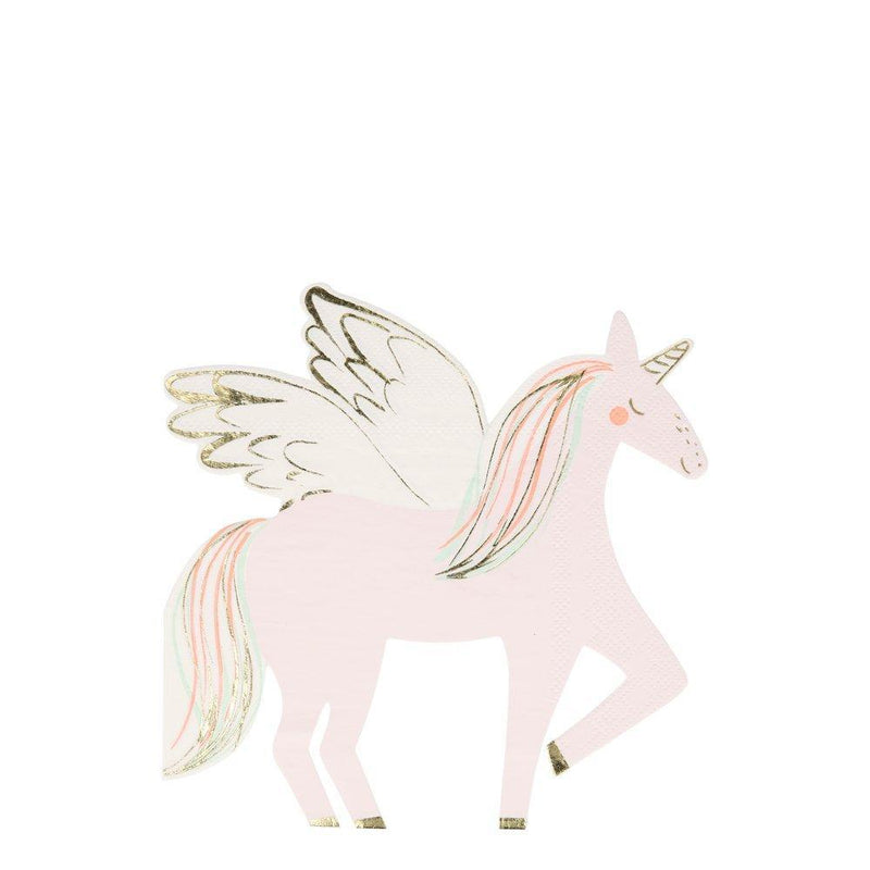 Winged Flying Unicorn Napkins