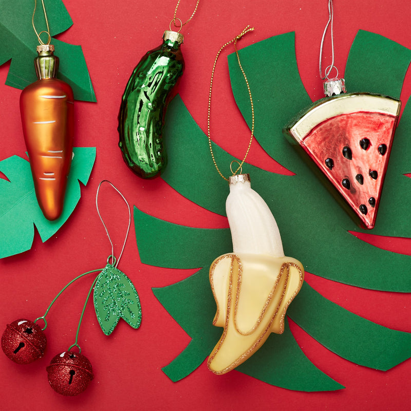 Peeled Banana Hanging Decoration Bauble