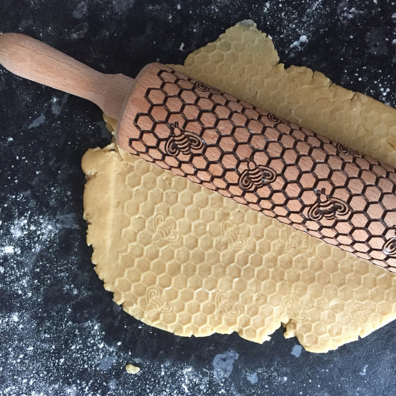 Honey Bees Rolling Pin for Biscuits