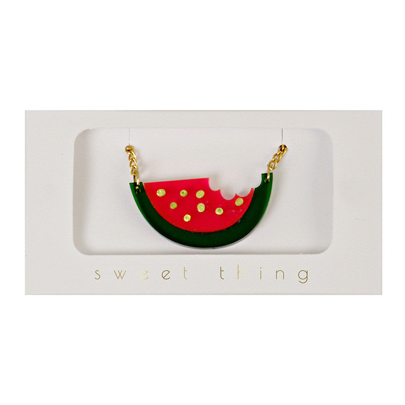 Water Melon Lovers' Necklace