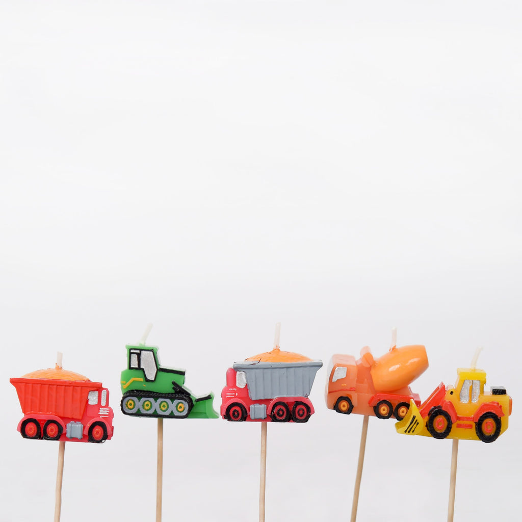 Diggers and Trucks 3D Candles Set