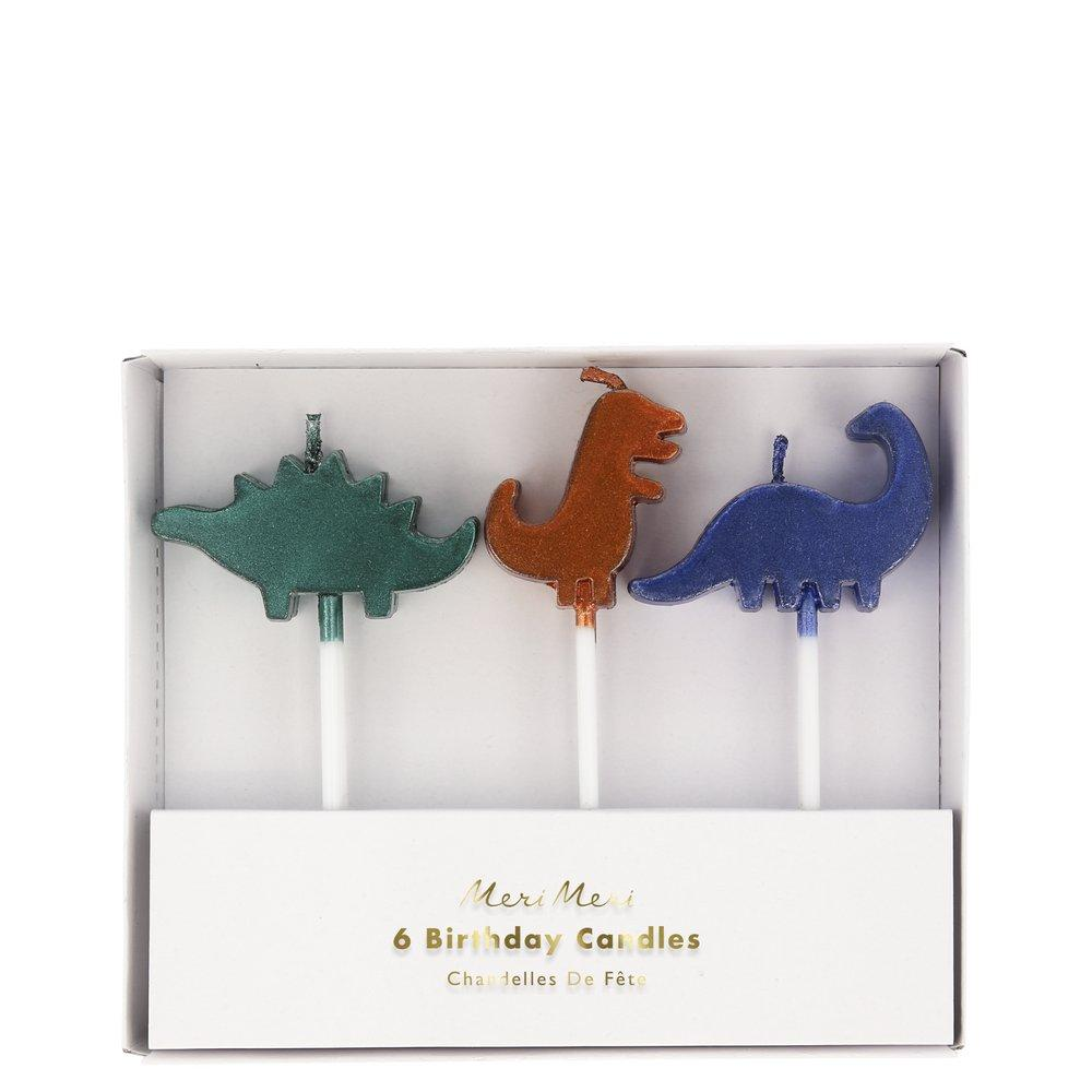 Dino Kingdom Cake Candles (Pack of 6)