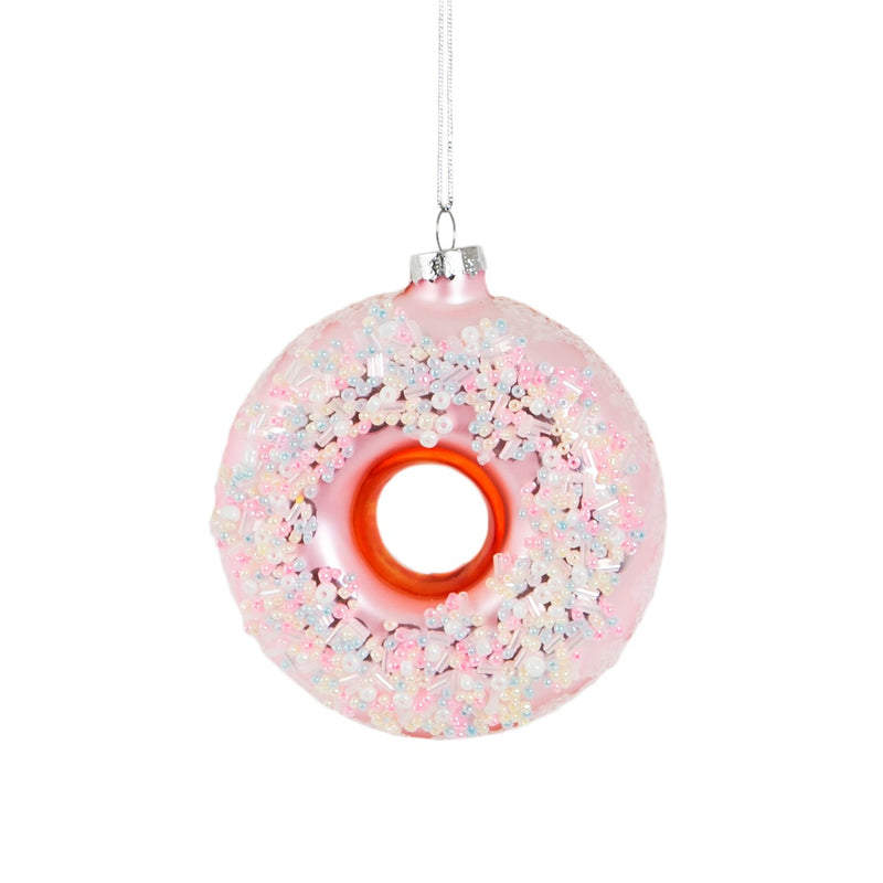 Pink Sugar Coated Donut Hanging Decoration Bauble