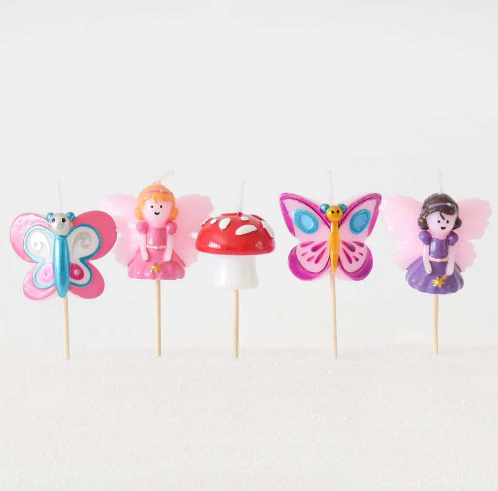 Fairy Butterfly 3D Candles Set