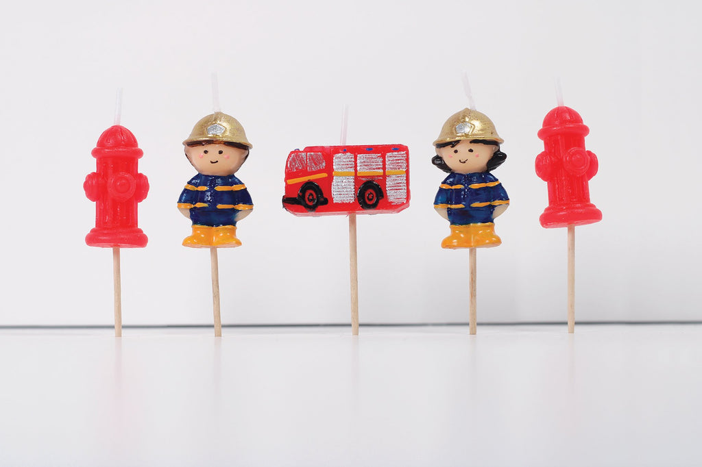 Firefighter 3D Candles Set