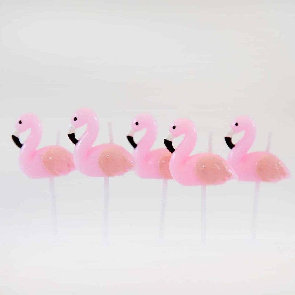 Flamingo 3D Candles Set