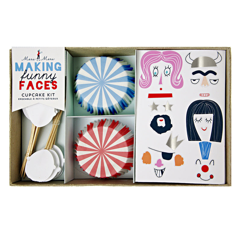 Making Funny Faces Cupcake Kit