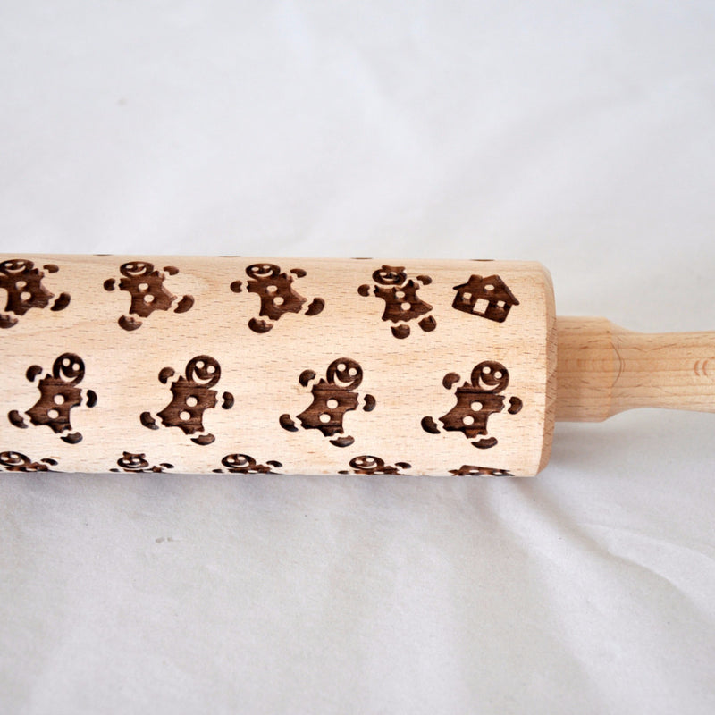 Gingerbread Men Pattern Rolling Pin