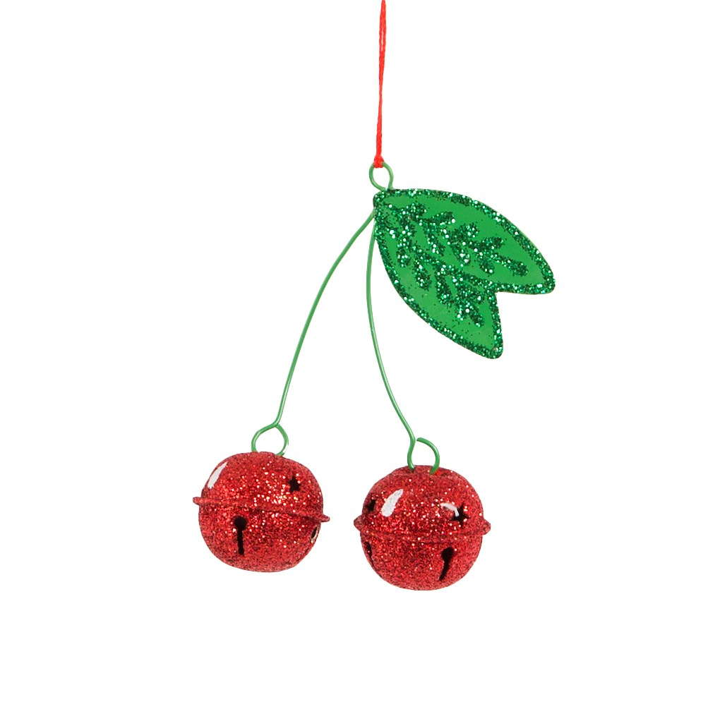 Glitter Cherries Hanging Decoration Bauble