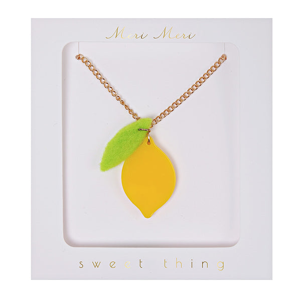 Bright Lemon Necklace