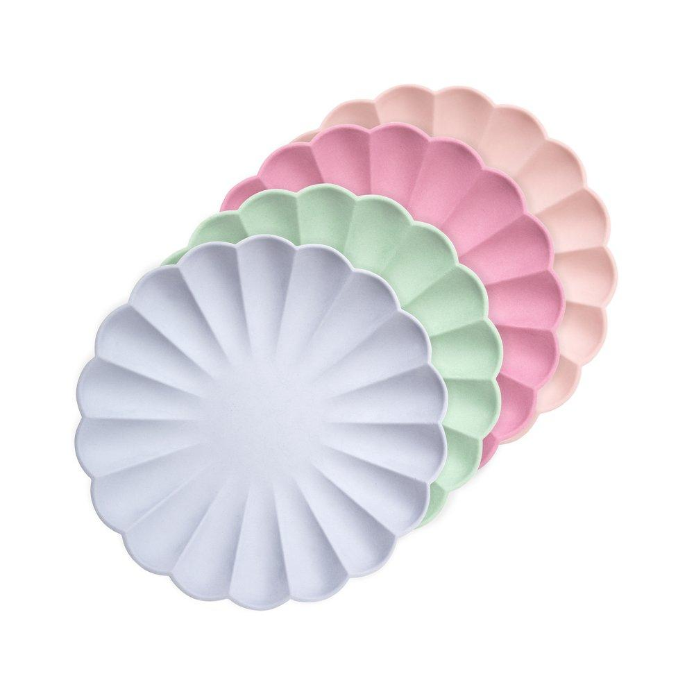Multicoloured Simply Eco Plates Small - Pack of 8