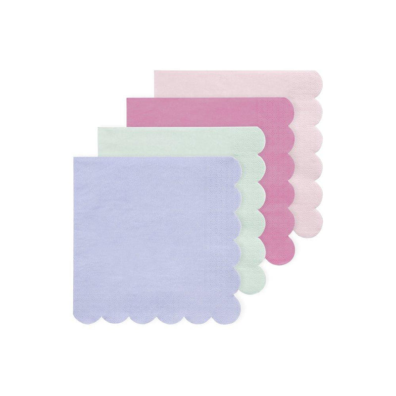 Multicoloured Small Eco Napkins - Pack of 20