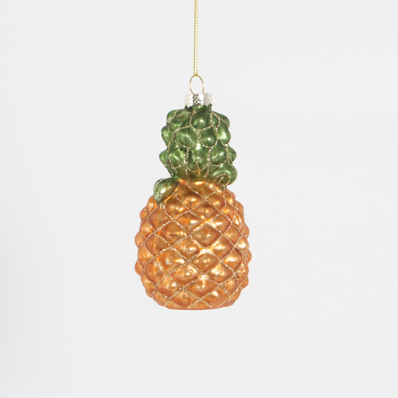 Glitzy Pineapple Hanging Decoration Bauble