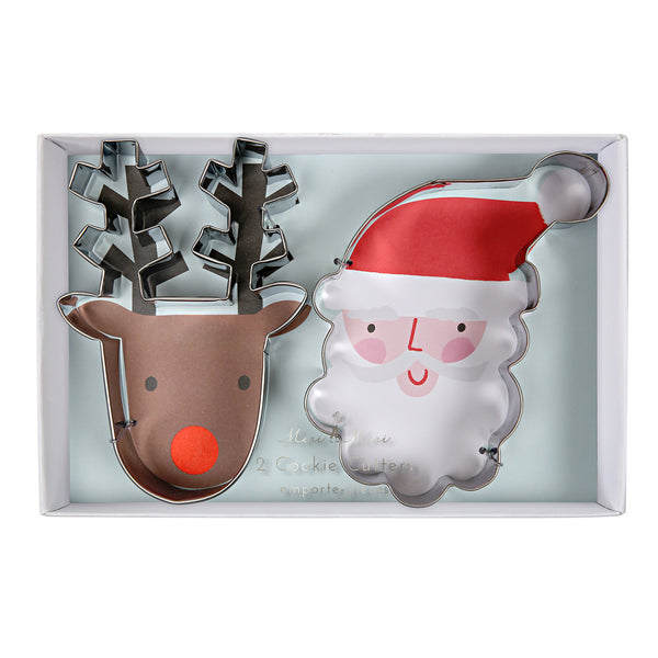 Father Christmas and Reindeer Cookie Cutters
