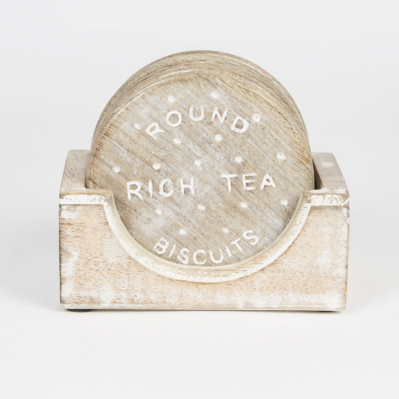 Rich Tea Biscuit Wooden Coaster