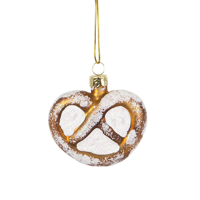 Frosted Pretzel Hanging Decoration Bauble