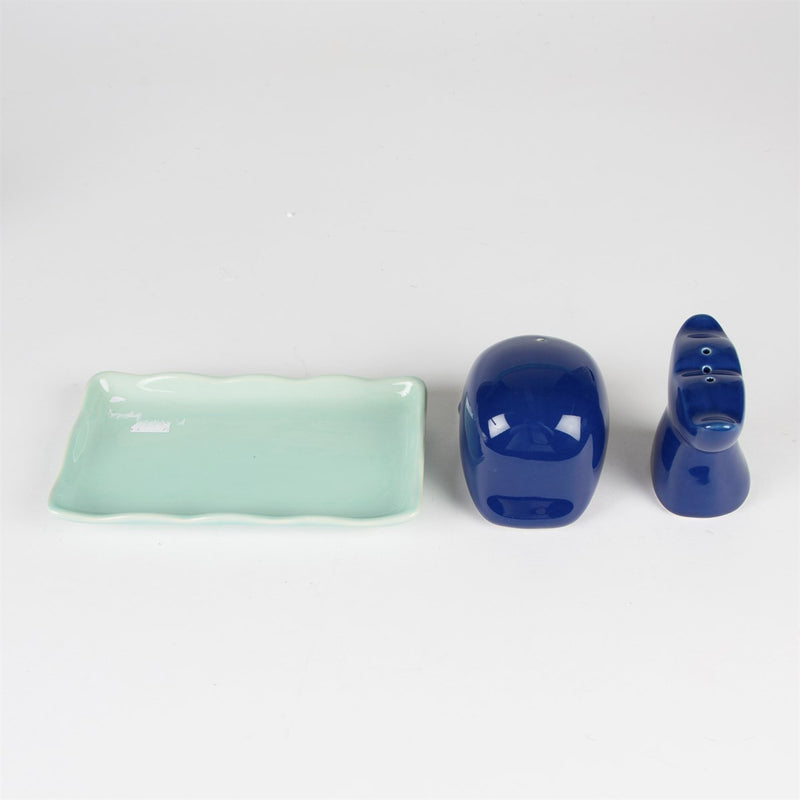 Whale Salt and Pepper Shaker Set
