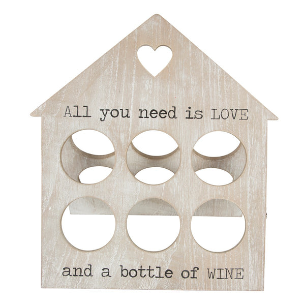 6 Bottle Love Wine Rack