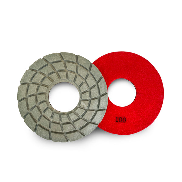Paddock Round Resin Polishing Pads 175mm 100 Grit